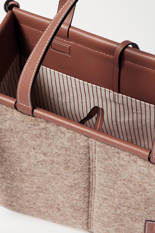 Loewe Cushion small leather-trimmed felt tote