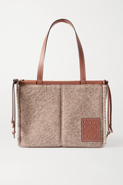 Loewe Cushion small leather-trimmed felt tote