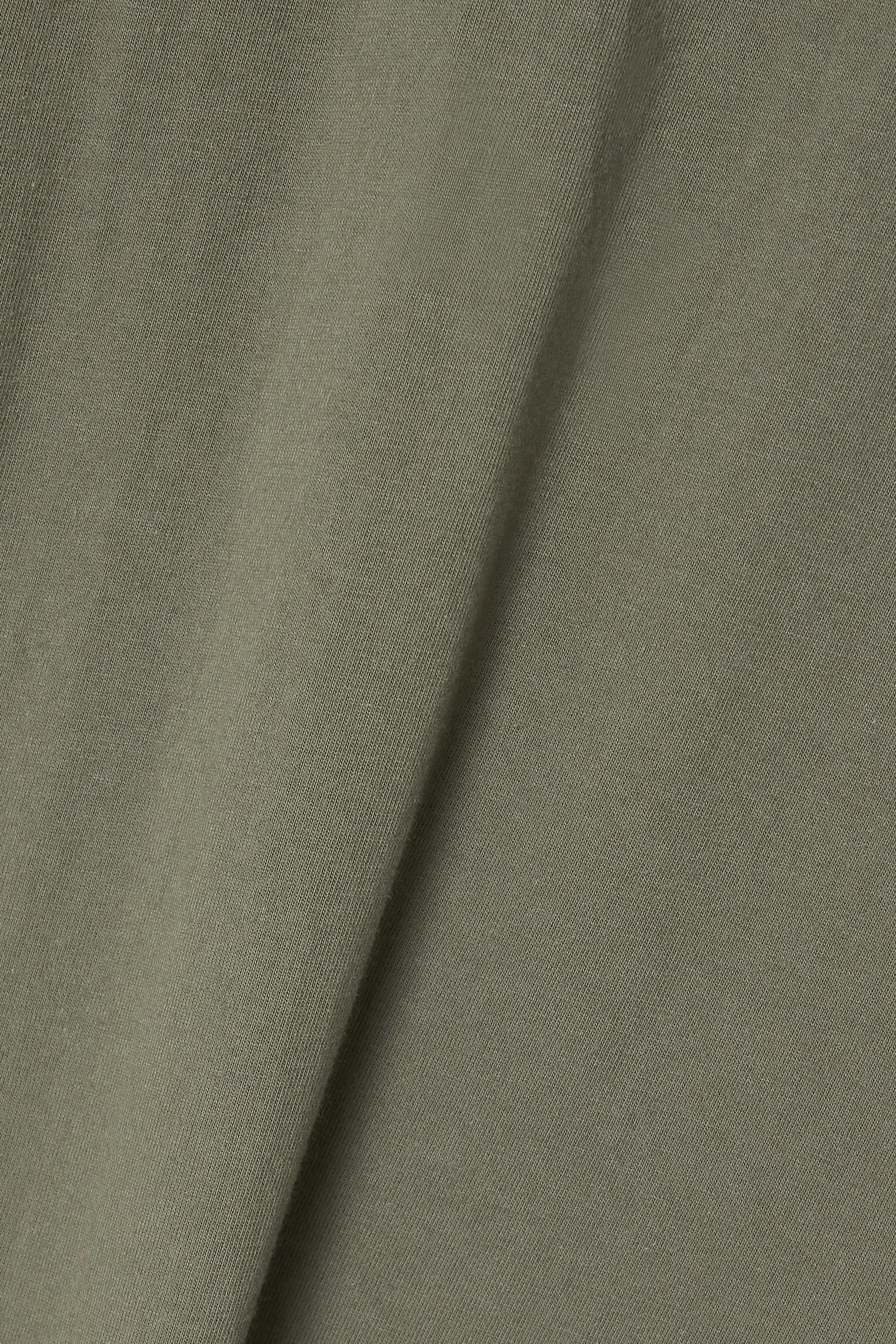 Army Green Tina Cotton-jersey Mini Dress | Frankie Shop