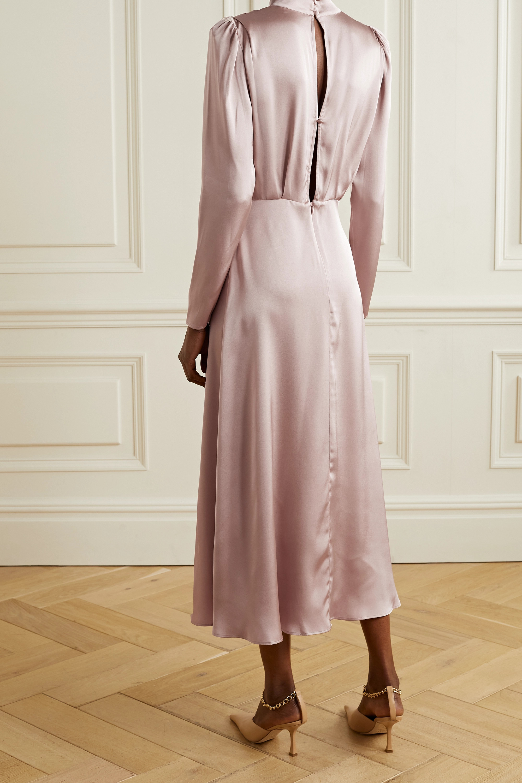 Anine Bing Kim open-back draped silk-satin midi dress