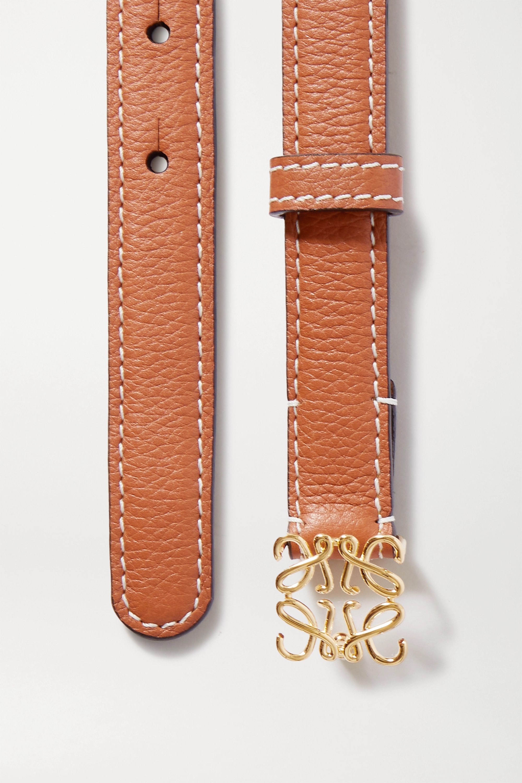 Loewe Anagram textured-leather belt