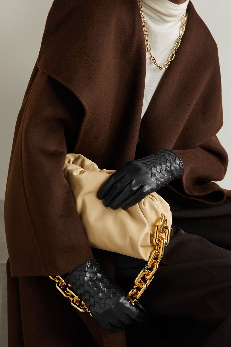 Portolano Woven leather gloves