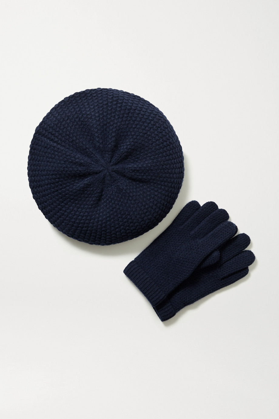 Portolano Cashmere beret and gloves set
