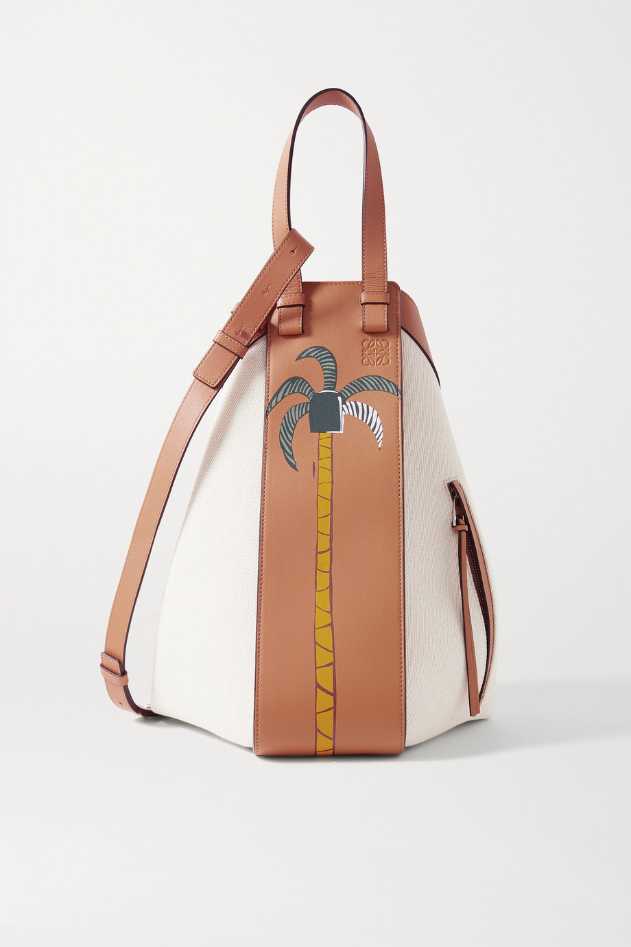 Loewe + Ken Price Hammock La Palme medium paneled leather and canvas tote