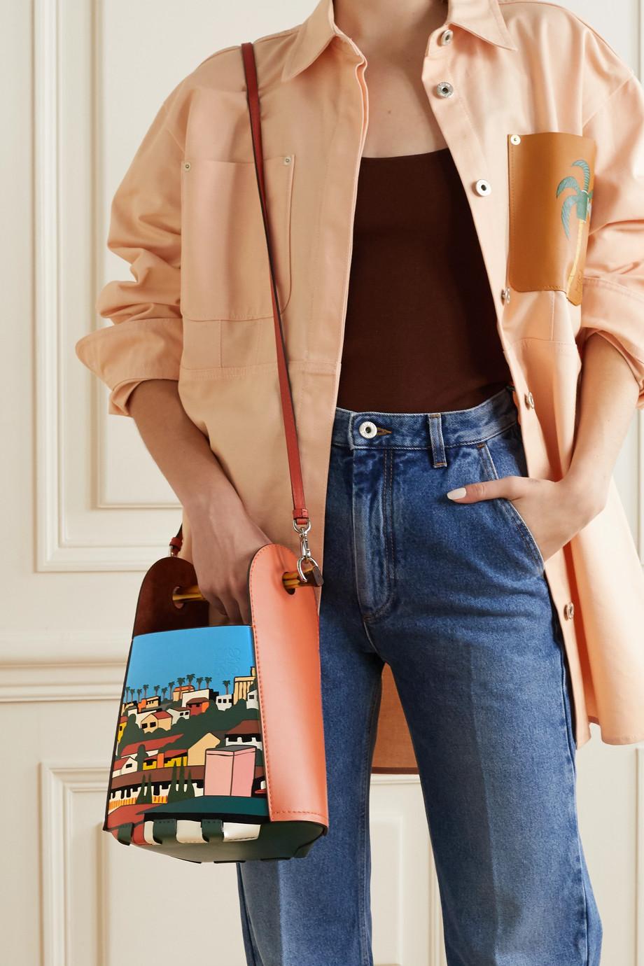 Loewe + Ken Price LA Series leather and bamboo bucket bag