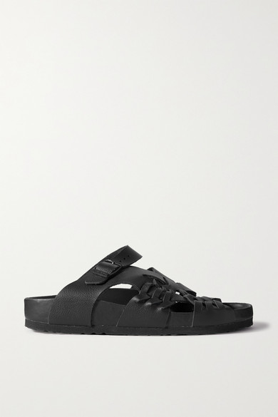 Birkenstock Shoes + CENTRAL SAINT MARTINS TALLAHASSEE WOVEN LEATHER SANDALS