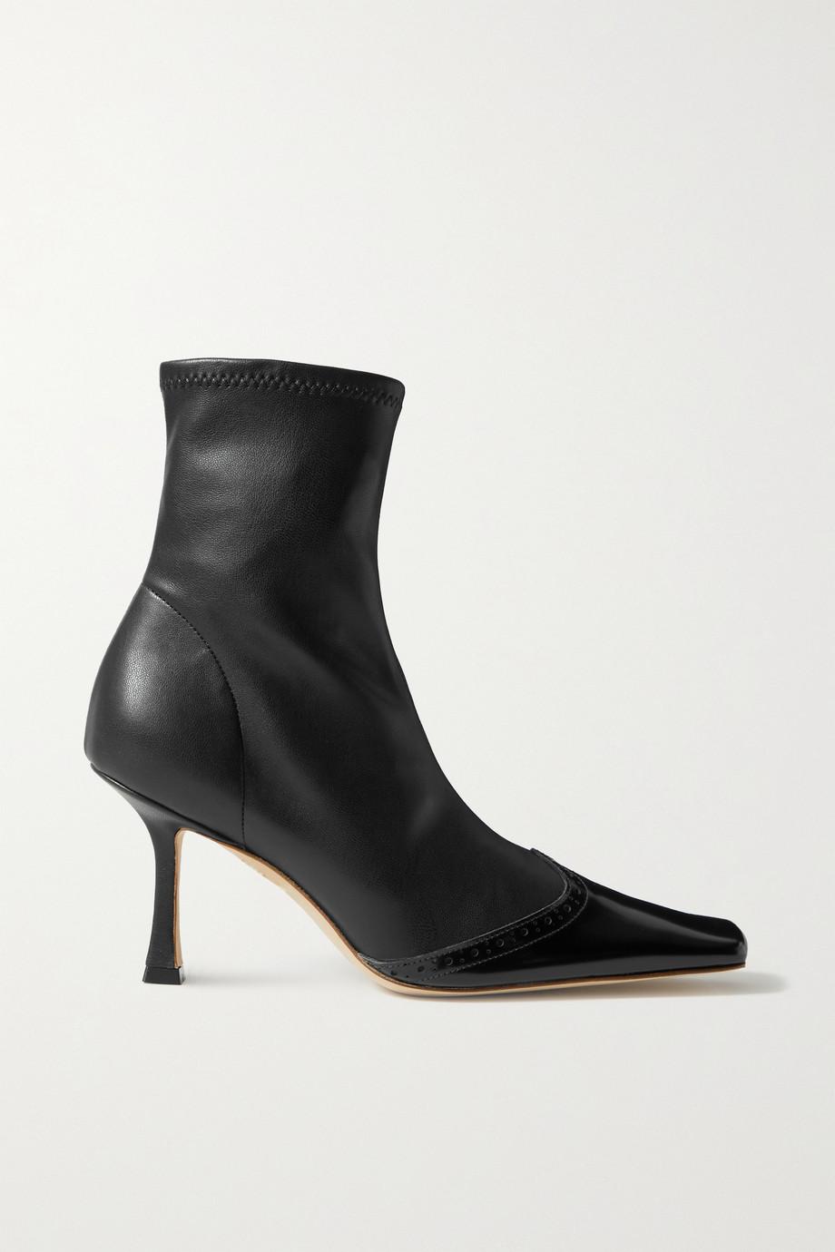 A.W.A.K.E. MODE Bernie paneled faux leather ankle boots
