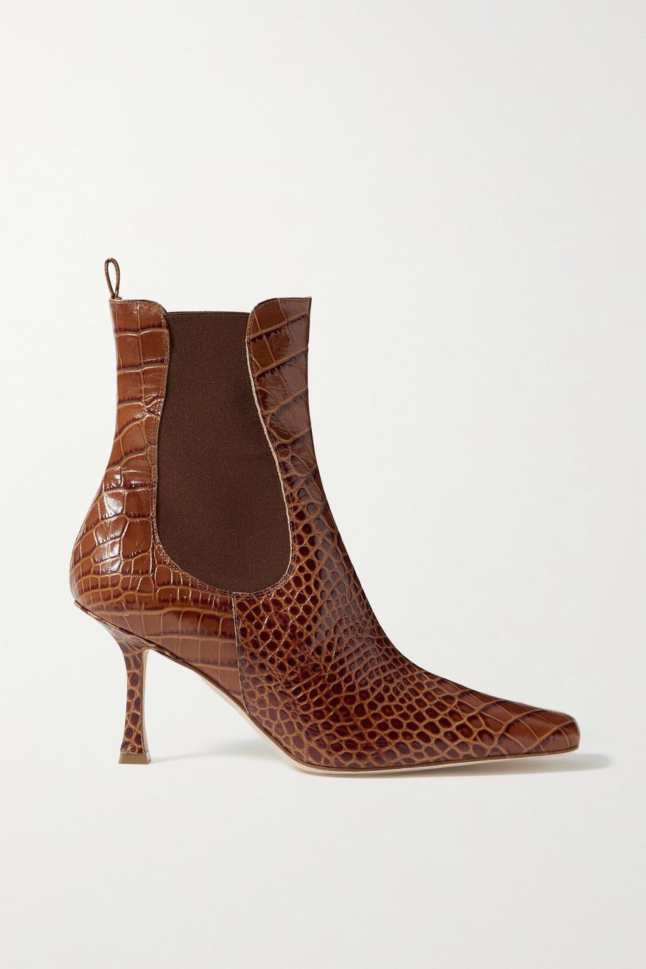 A.W.A.K.E. MODE Chelsea 仿鳄鱼纹皮革踝靴