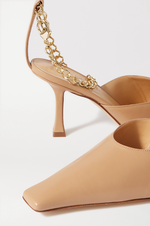 A.W.A.K.E. MODE Lucrezia chain-embellished leather pumps