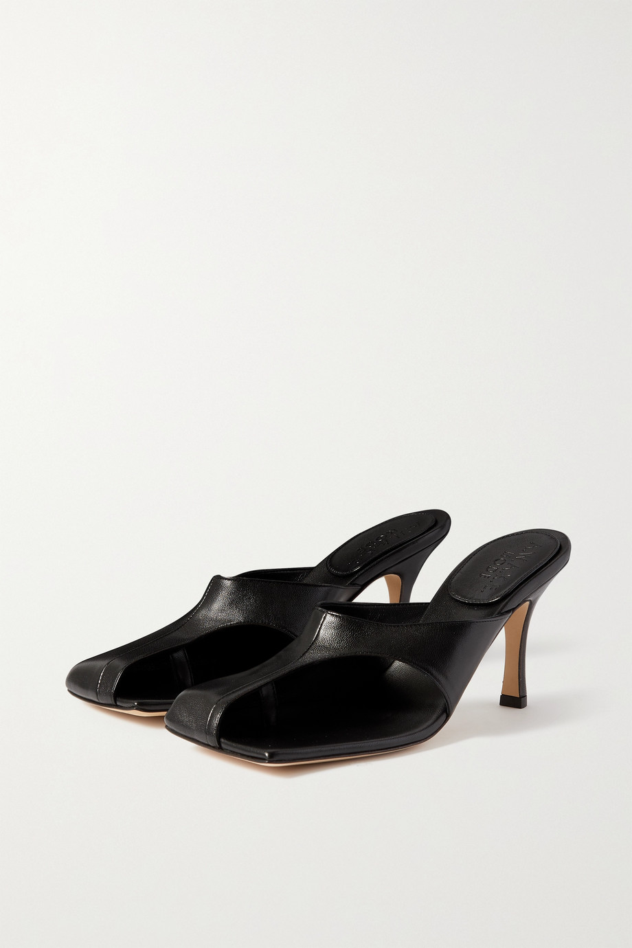 A.W.A.K.E. MODE Mary cutout leather mules