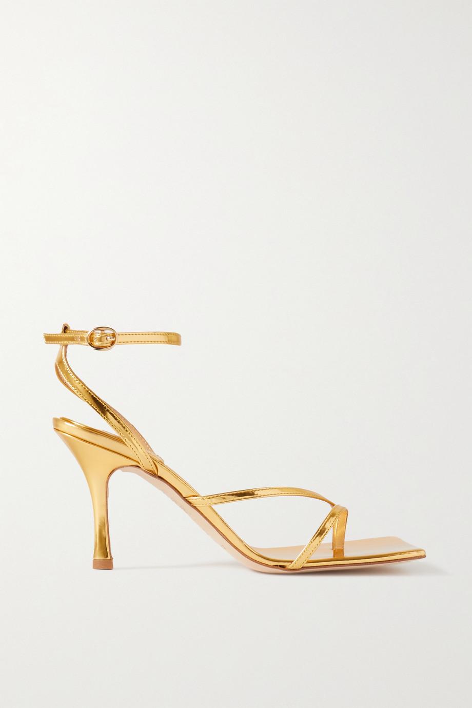 A.W.A.K.E. MODE Delta metallic leather sandals