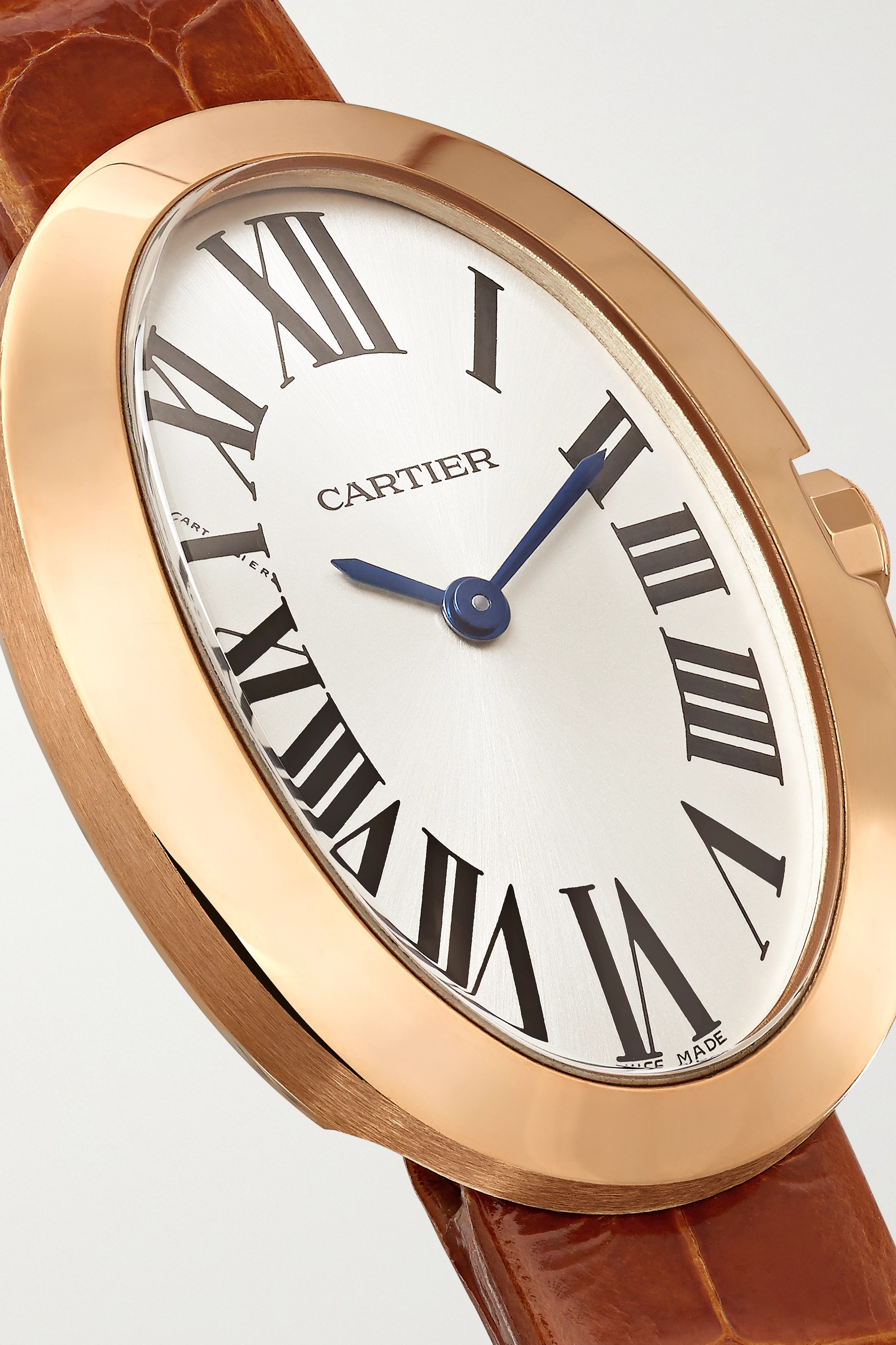 Cartier Baignoire 24.5mm small 18-karat rose gold and alligator watch