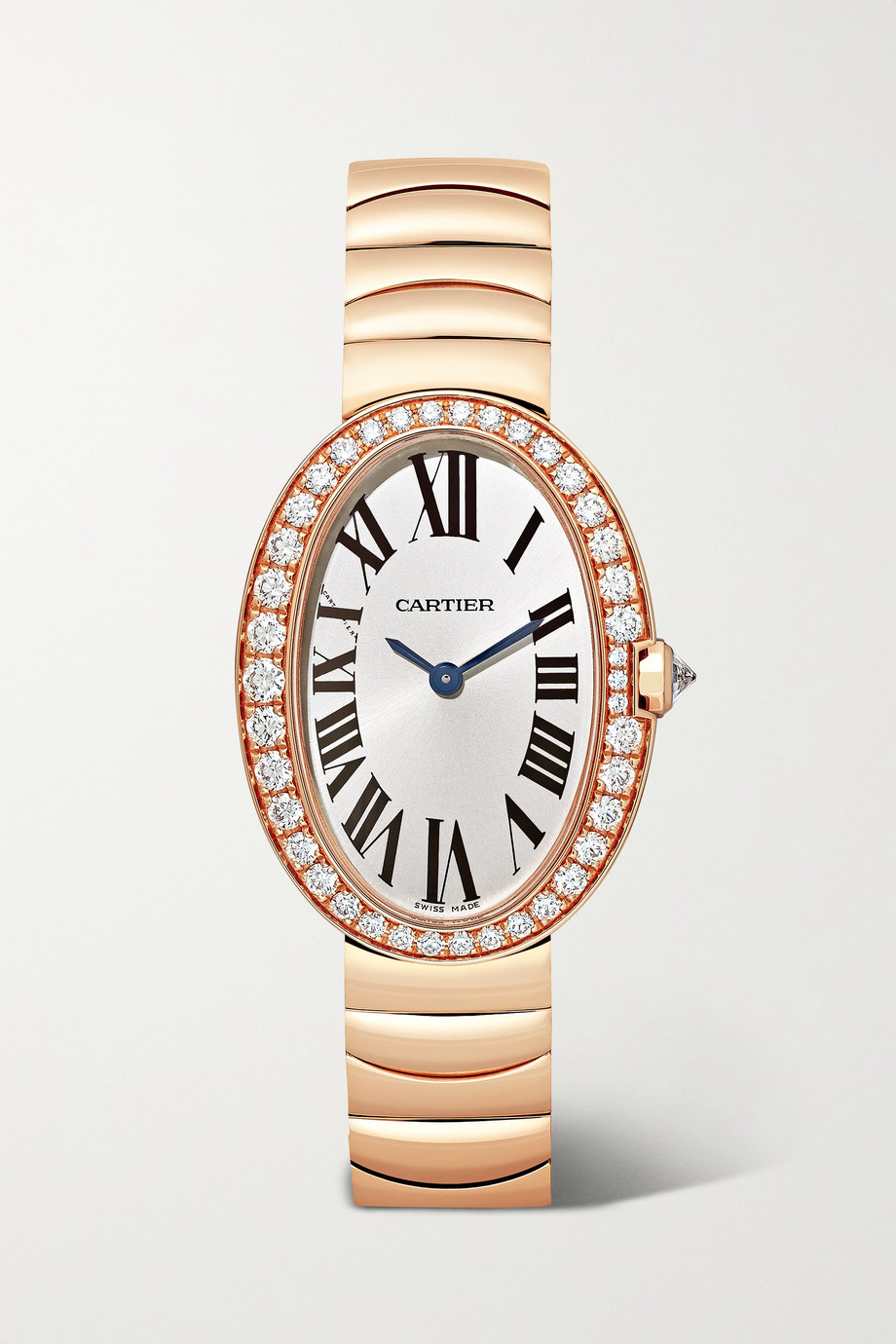 Cartier Baignoire 24.5mm small 18-karat pink gold and diamond watch