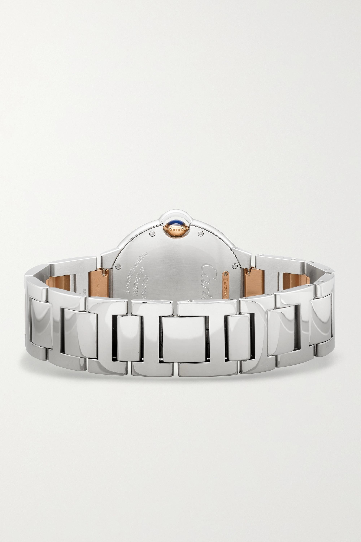 Cartier Ballon Bleu de Cartier Automatic 36mm 18-karat rose gold, stainless steel and diamond watch