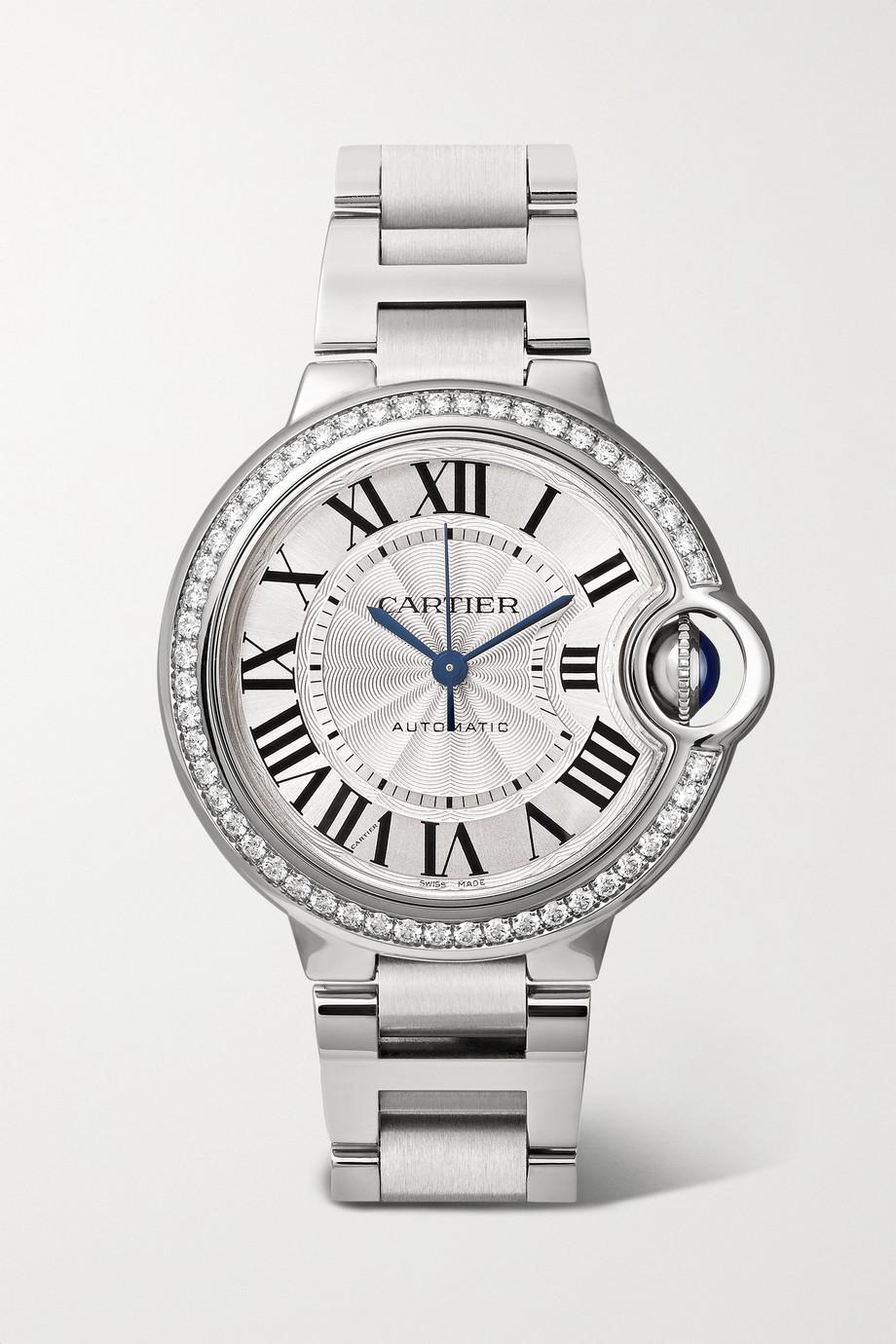 Cartier Ballon Bleu de Cartier Automatic 33 毫米钻石精钢腕表
