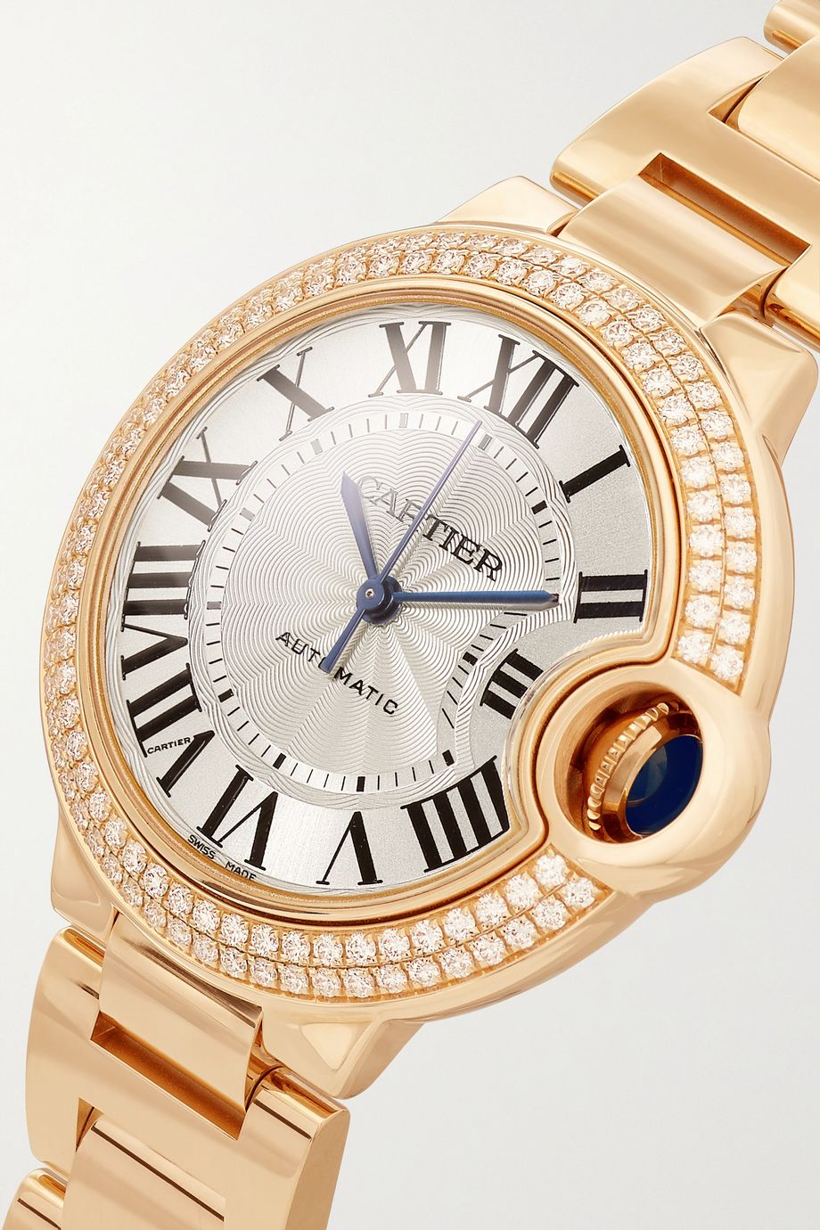 Cartier Ballon Bleu de Cartier Automatic 36mm 18-karat rose gold and diamond watch