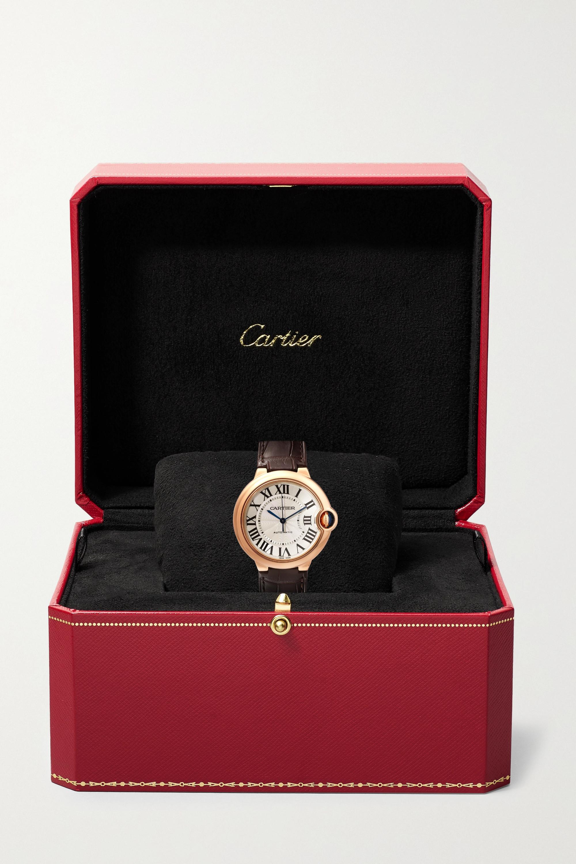 Cartier Ballon Bleu de Cartier Automatic 36mm 18-karat rose gold and alligator watch