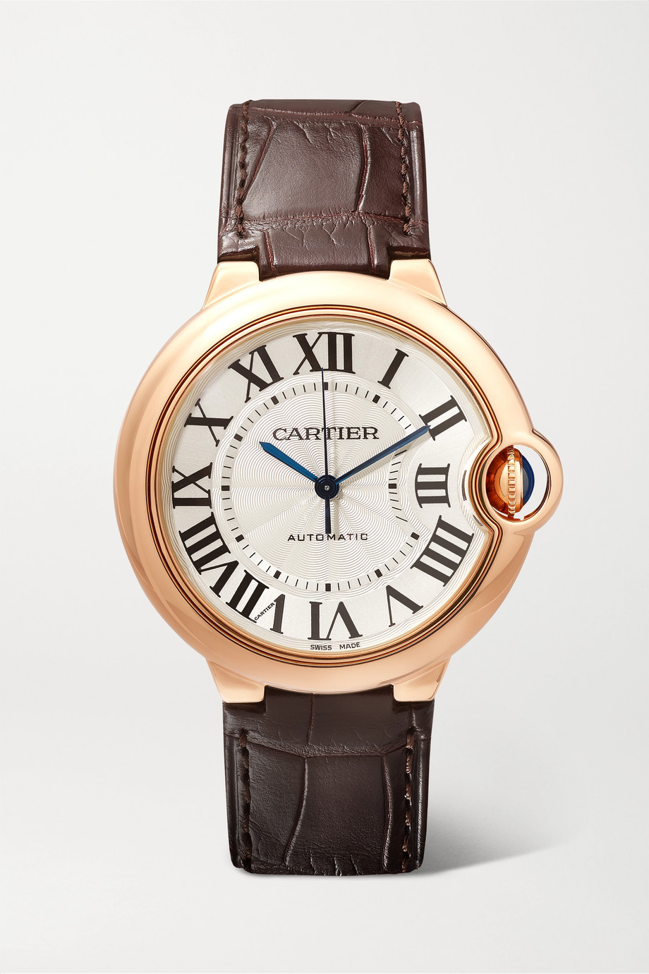 Cartier Ballon Bleu de Cartier 36mm 18-karat pink gold and alligator watch