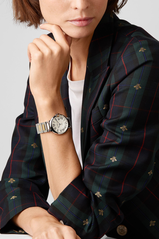 Cartier Ballon Bleu de Cartier Automatic 36.6mm 18-karat gold and stainless steel watch