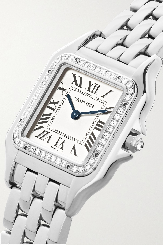 Cartier Panthère de Cartier 22mm small stainless steel and diamond watch