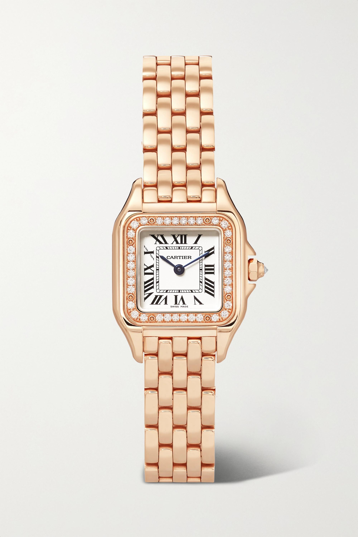 Cartier Panthère de Cartier 22mm small 18-karat pink gold diamond watch