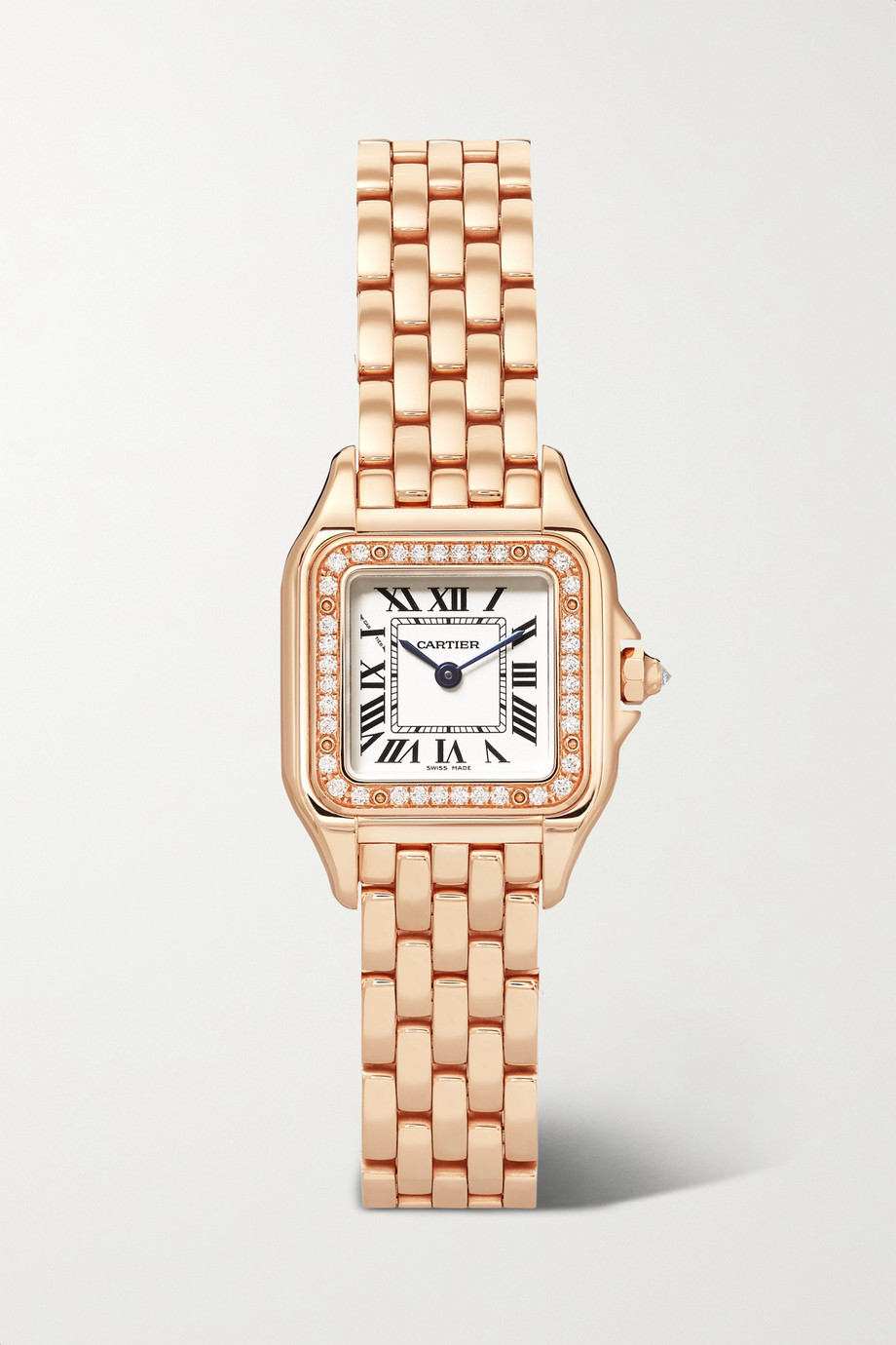 Cartier Panthère de Cartier 22mm small 18-karat pink gold diamond watch