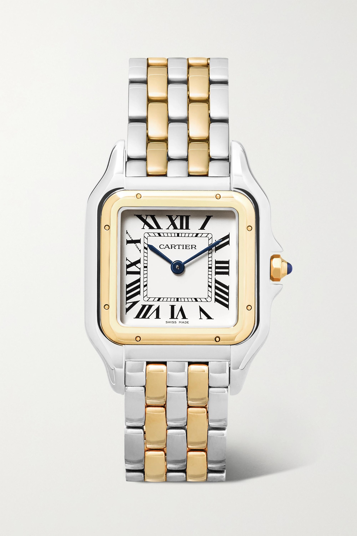 Cartier Panthère de Cartier 27 毫米 18K 黄金中号精钢腕表