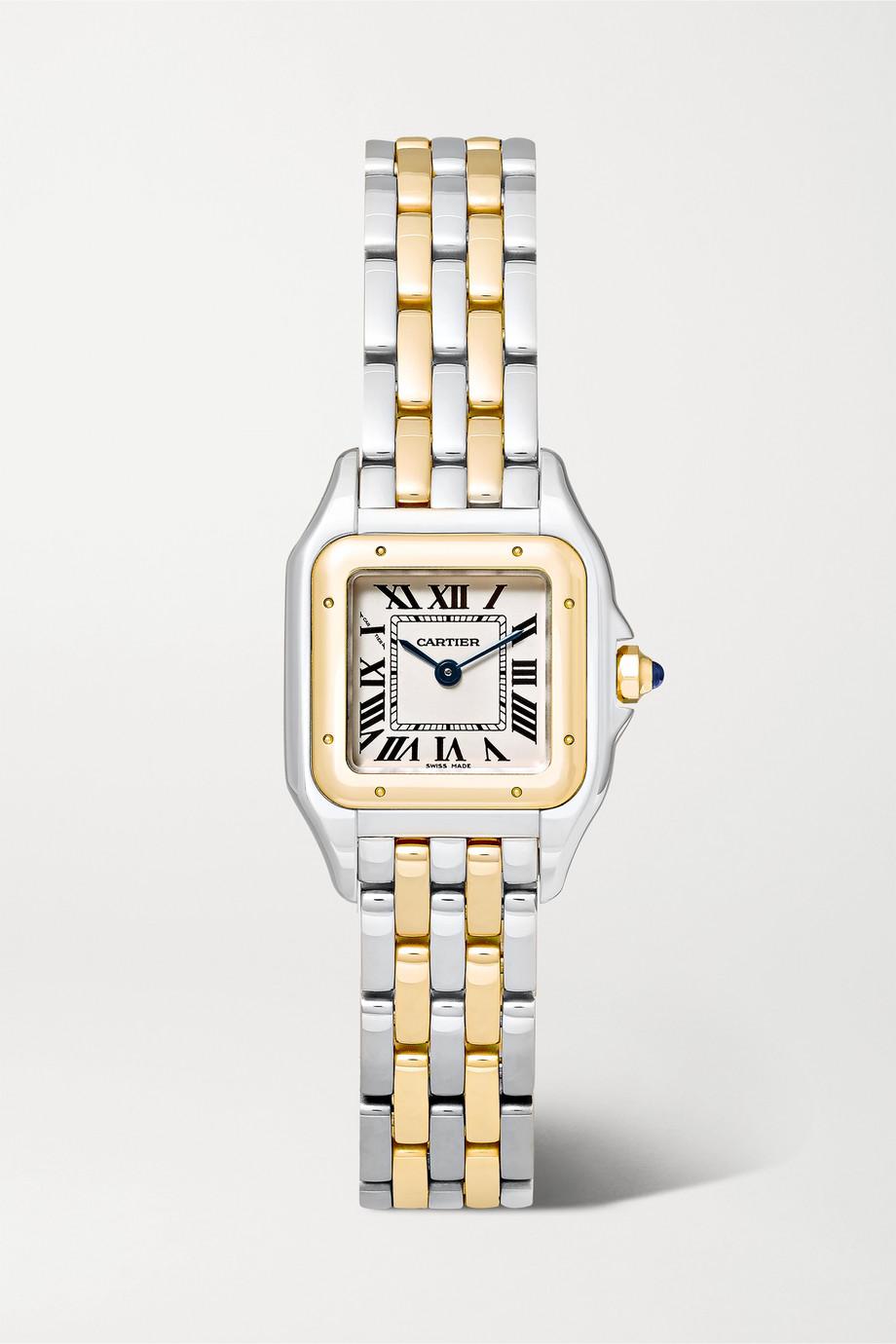 Cartier Panthère de Cartier 22 mm kleine Uhr aus 18 Karat Gold und Edelstahl