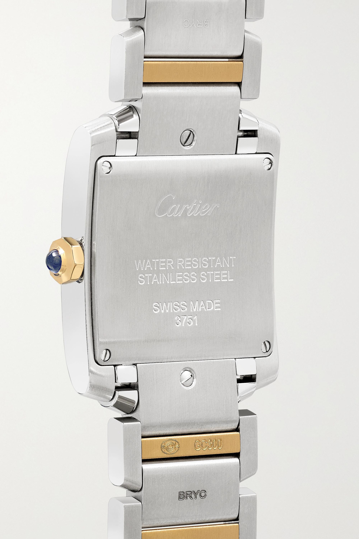Cartier Tank Française 25.05mm medium 18-karat gold and stainless steel watch