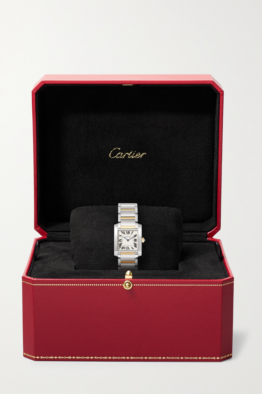 Cartier Montre en or 18 carats et acier inoxydable Tank Française Medium  25,05 mm