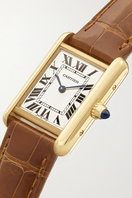 Cartier Tank Louis Cartier 22mm small 18-karat gold and alligator watch