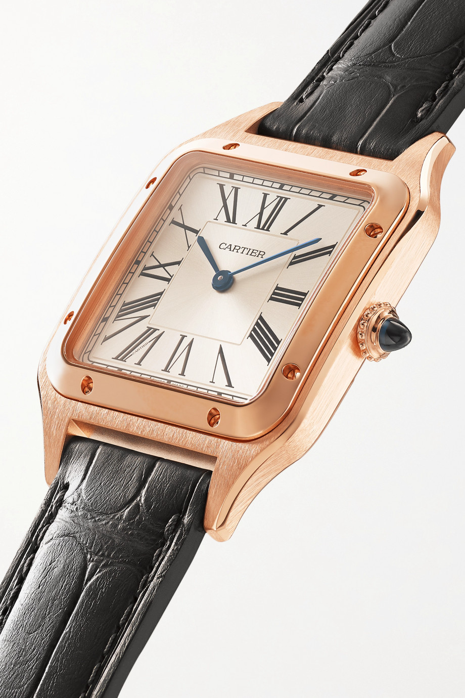 Cartier Santos-Dumont Automatic 31.4mm large 18-karat pink gold and alligator watch