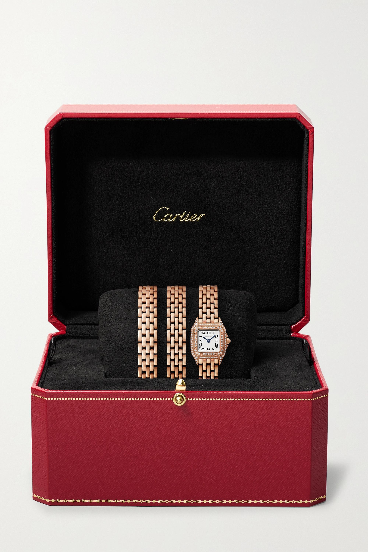 Cartier Panthère de Cartier Manchette 20mm small 18-karat rose gold and diamond watch
