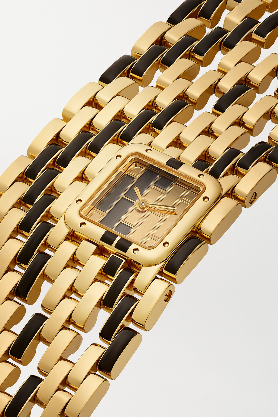 Cartier Panthère de Cartier Manchette 22mm 18-karat gold and lacquer watch
