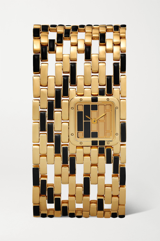Cartier Montre en or 18 carats et laque Panthère de Cartier Manchette 22 mm