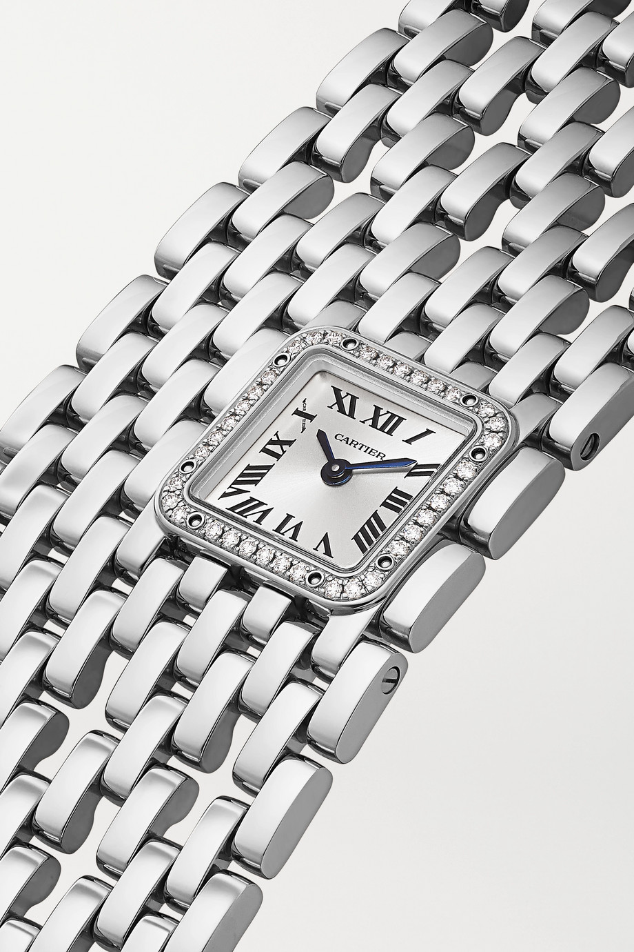 Cartier Panthère de Cartier Manchette 22mm rhodium-finish 18-karat white gold and diamond watch