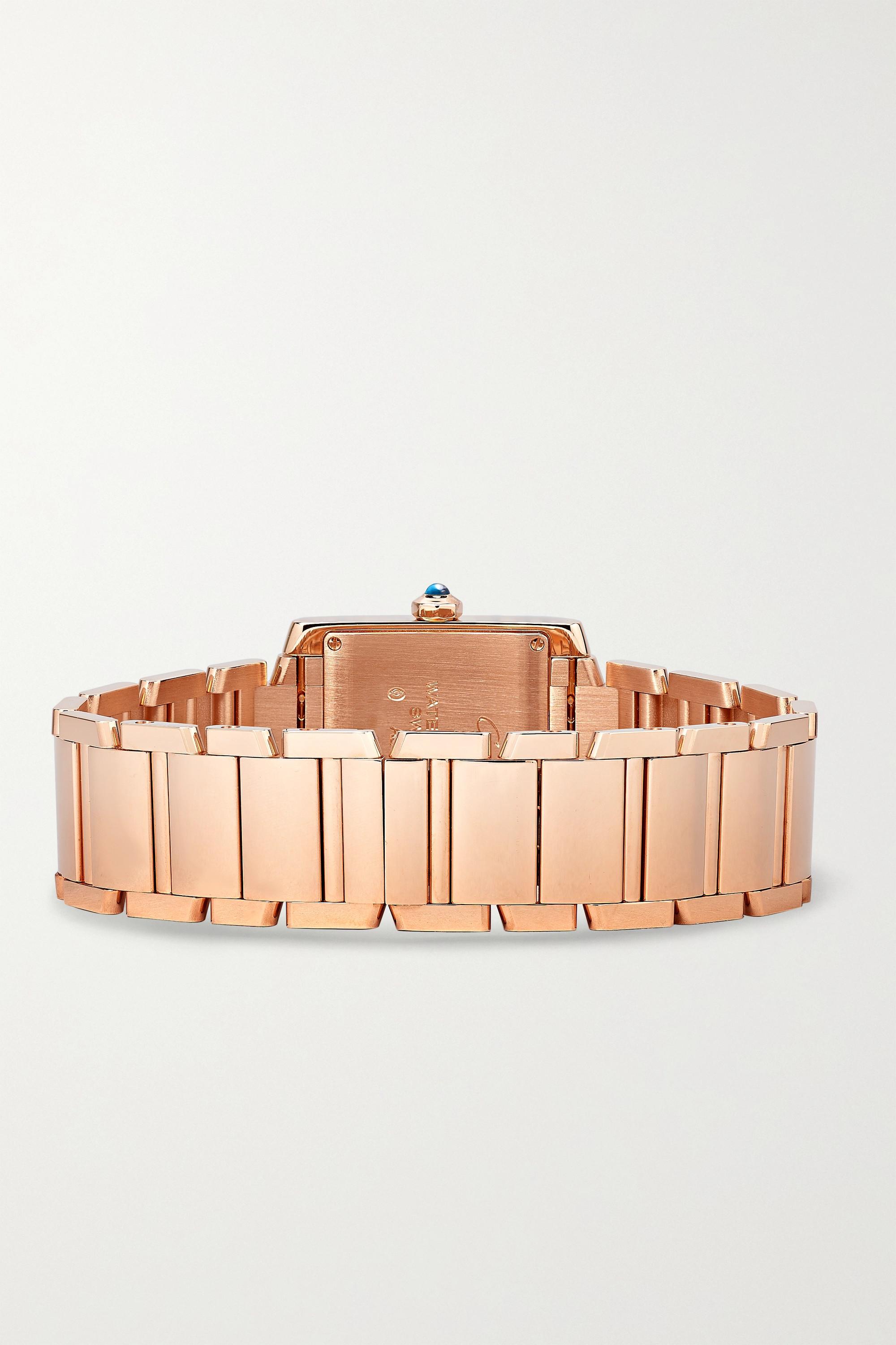 Cartier Montre en or rose 18 carats Tank Française Medium 30 mm