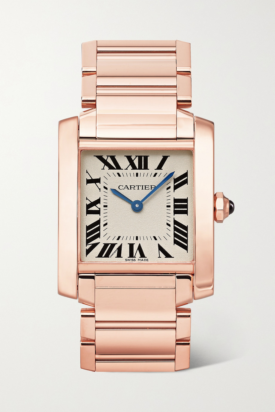Cartier Tank Française 30mm medium 18-karat rose gold watch