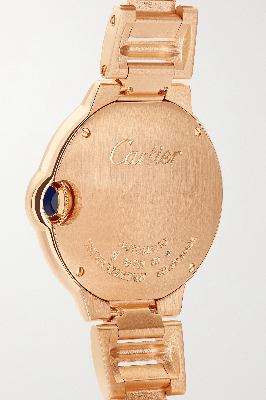 Cartier Montre en or rose 18 carats (750/1000) et diamants Ballon Bleu de Cartier, 33 mm