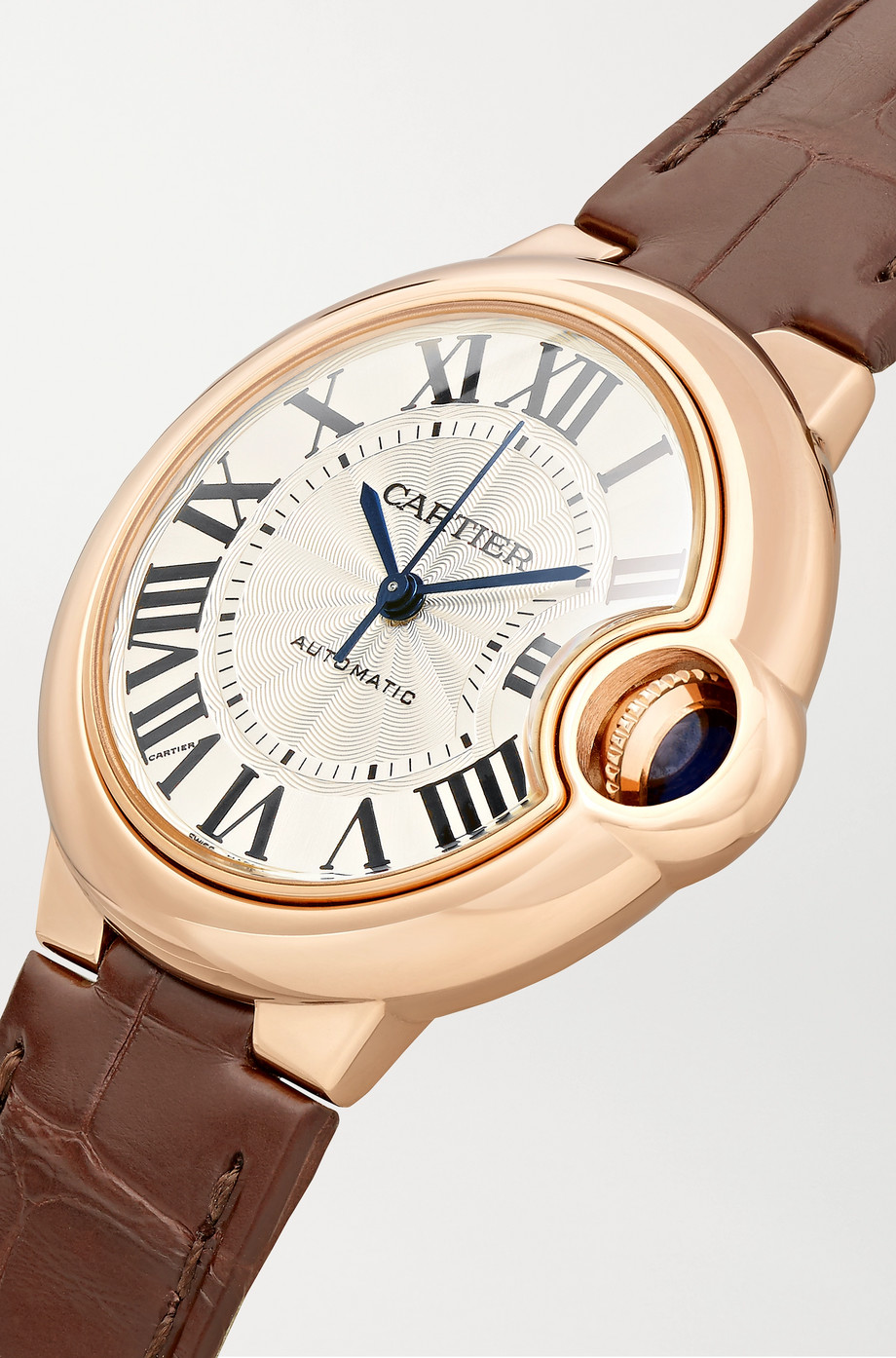 Cartier Ballon Bleu de Cartier 33mm 18-karat pink gold and alligator watch