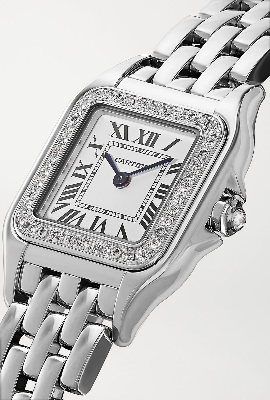 Cartier Panthère de Cartier 20 mm kleine Uhr aus 18 Karat Weißgold mit Diamanten