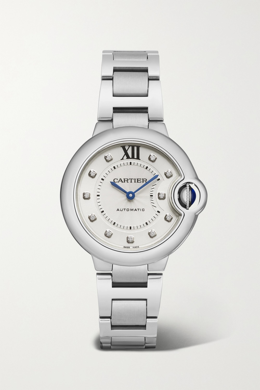 Cartier Ballon Bleu de Cartier Automatic 33mm stainless steel and diamond watch