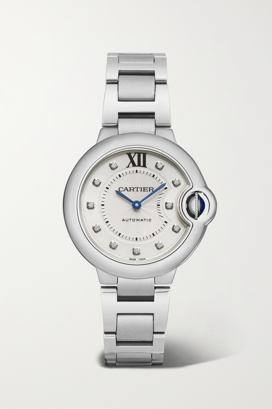 Cartier Ballon Bleu de Cartier Automatic 33 毫米钻石精钢腕表