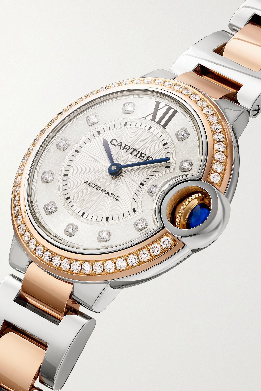 Cartier Montre en or rose 18 carats et en acier inoxydable Ballon Bleu de Cartier Automatique 33 mm