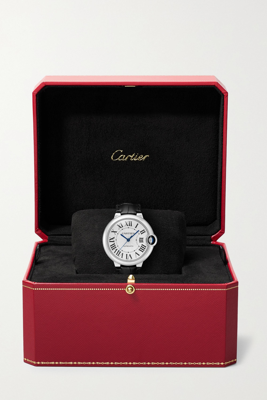 Cartier Ballon Bleu de Cartier 36 mm Uhr aus Edelstahl mit Alligatorlederarmband
