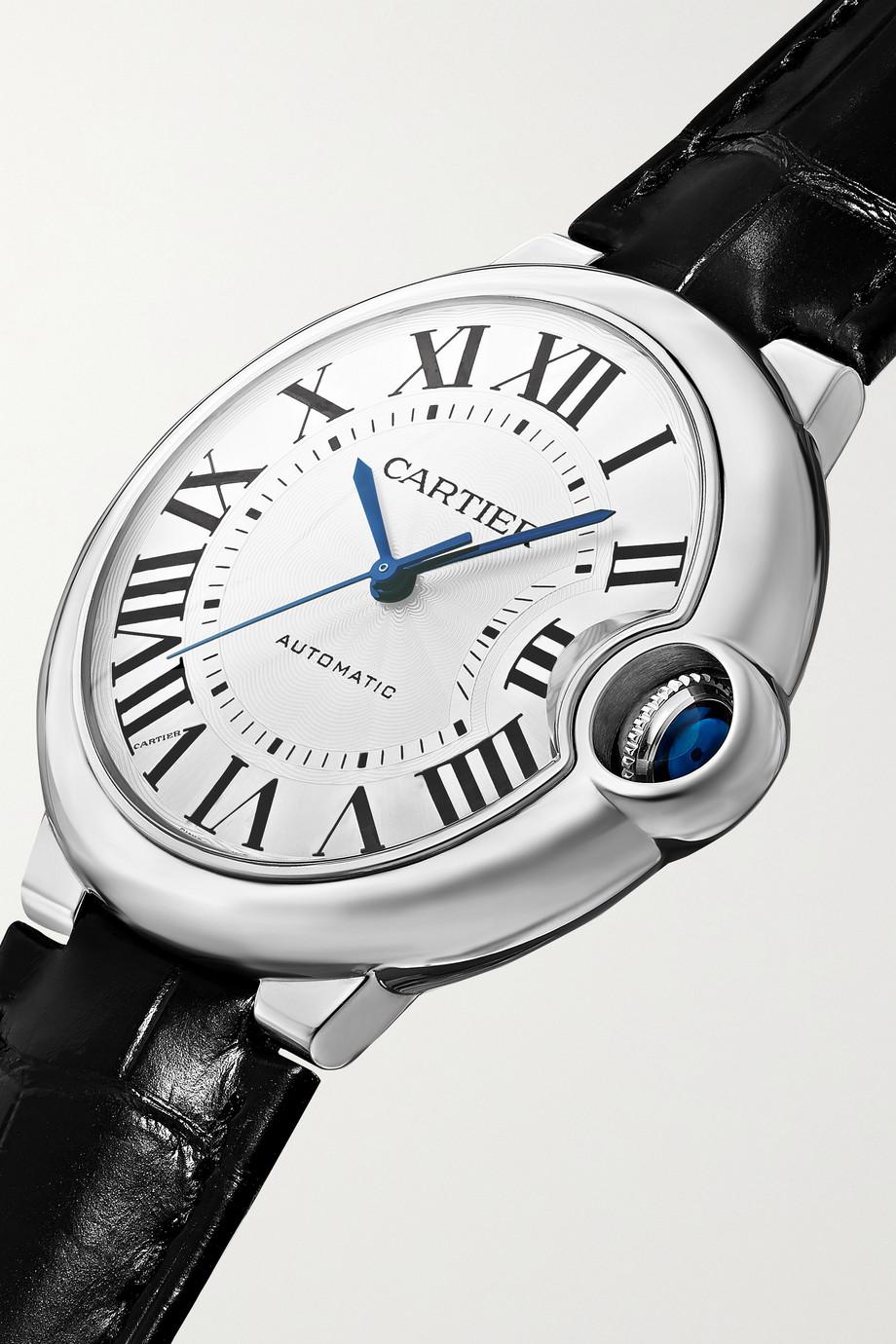 Cartier Ballon Bleu de Cartier Automatic 36 毫米精钢腕表(短吻鳄鱼皮表带)