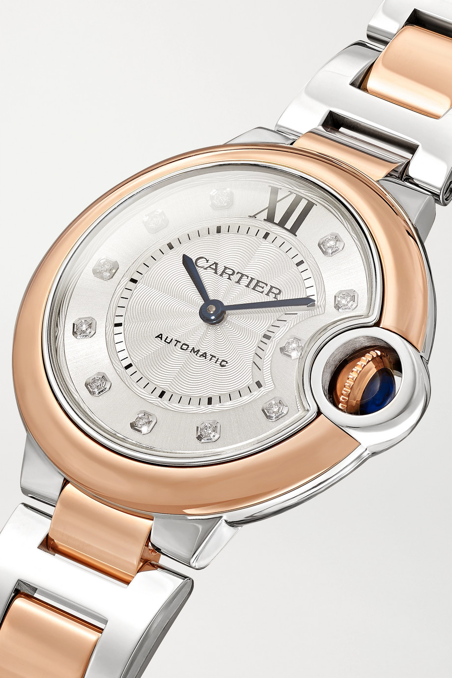 Cartier Ballon Bleu de Cartier Automatic 33mm 18-karat rose gold, stainless steel and diamond watch