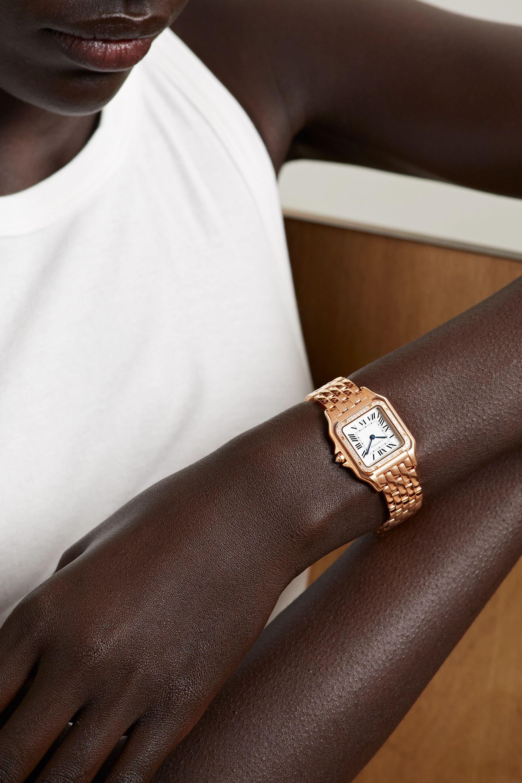 Cartier Montre en or rose 18 carats et diamants Panthère de Cartier Medium 27 mm