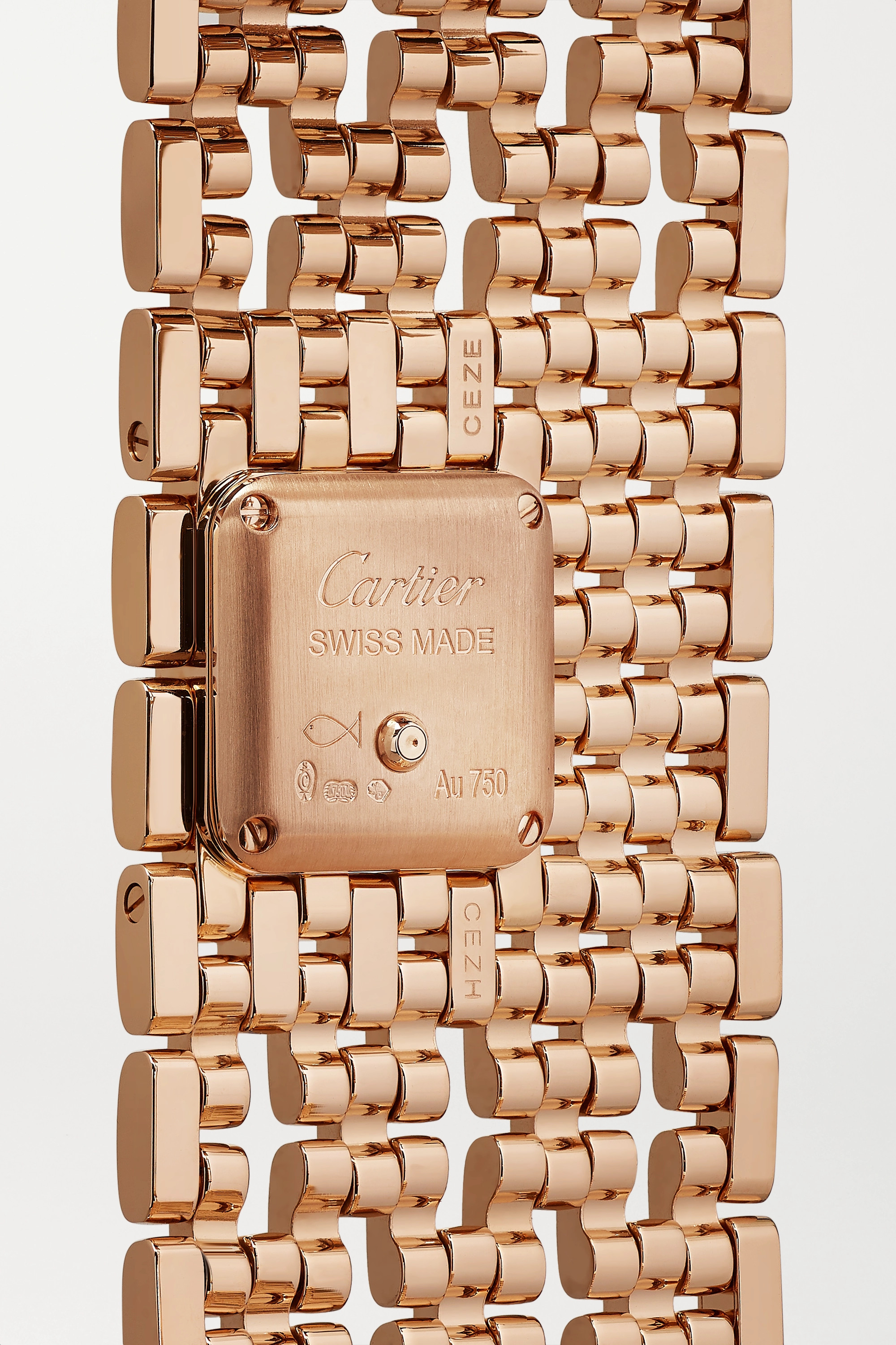 Cartier Panthère de Cartier Manchette 22mm 18-karat rose gold and diamond watch