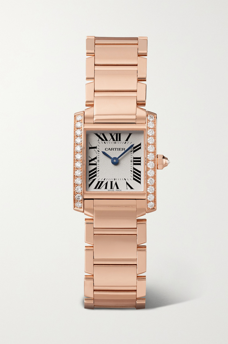 Cartier Tank Française 25mm small 18-karat rose gold diamond watch